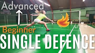 Badminton: SINGLE DEFENCE - FROM BEGINNER TO ADVANCED, step by step