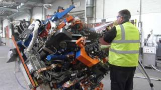 Cleaning Door Jigs At GM Vauxhall Using ASCO Dry Ice Blasting