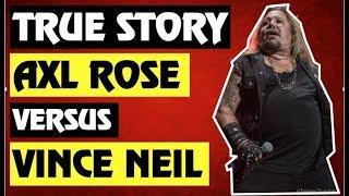 Guns N' Roses:True Story Behind the Vince Neil (Motley Crue) vs Izzy Stradlin & Axl Rose