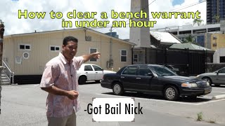 How to clear a bench warrant in under an hour
