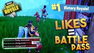 ELKE 1K LIKES = 1 BATTLE PASS!! - Fortnite Battle Royale