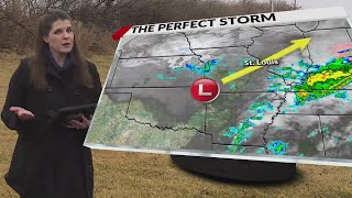 Strong Midwest winter storm system brings only rain to St. Louis; here's why