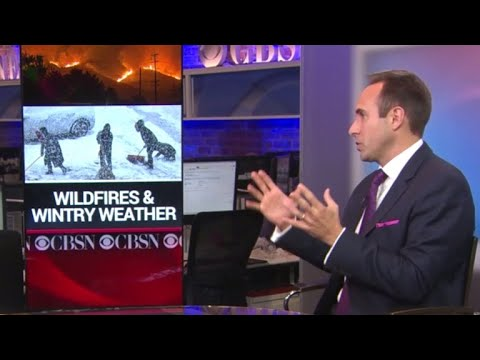 Wildfire threat and a wintry blast in the forecast