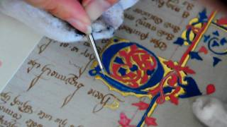 Medieval Manuscript Reproduction, Part 5a: Painting An Illuminated Letter