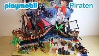 #Playmobil #Piraten Kampfschiff 70411 mit #Segler 70412 und #Bastion 70413 mit #Schatzversteck 70414