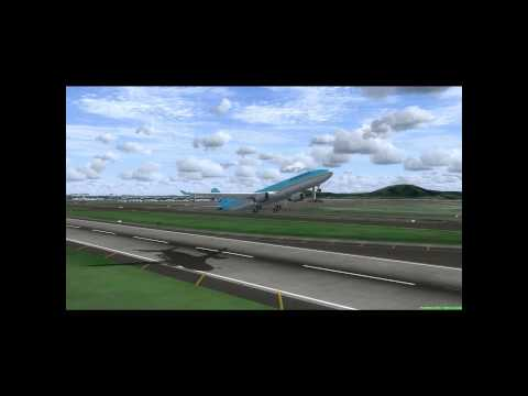 FSX RKSI(ICN/Korea) to RJFF(FUK/Japan) Korean Air A330-300 - micnobu