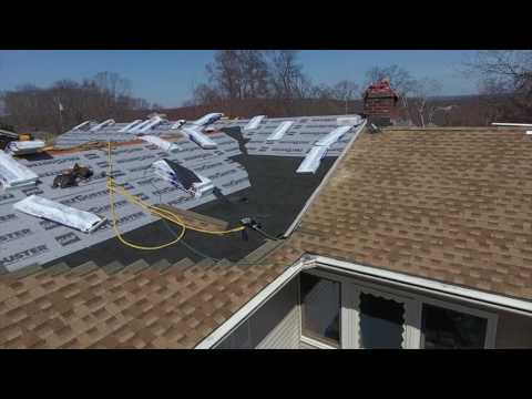 Our standard service includes a six layer roof protection system. You can see all the different parts of this roof from the shingles, to the leak barrier and starter strips. All these parts ensure that your roof will last and remain free from leaks for decades.