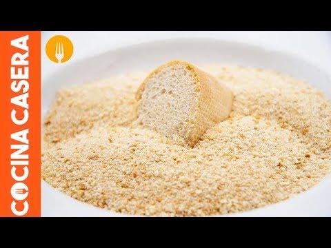 Cómo hacer pan rallado casero. Recetas caseras