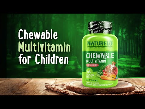 NATURELO, Chewable Multivitamin for Children, 60 Chewable Tablets