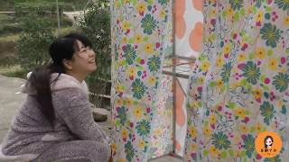 哥哥买的礼物,秋子一个人完成了安装,首次曝光她的闺房