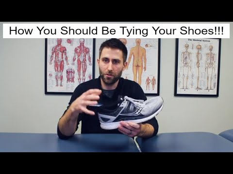 How You Should be Tying Your Shoes for Foot and Knee Pain!