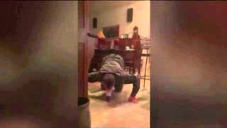 Step dad uses insane yoga party trick to drink beer off his forehead 03/12/15