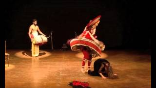 preview picture of video 'The Killing of Dussasana - Kathakali and Flamenco'