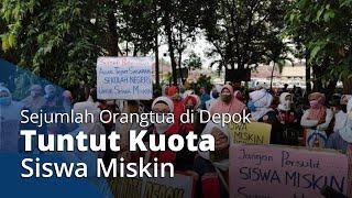 Sejumlah Orangtua di Depok Berdemo di Depan Kantor Wali Kota Depok, Tuntut Kuota Siswa Miskin