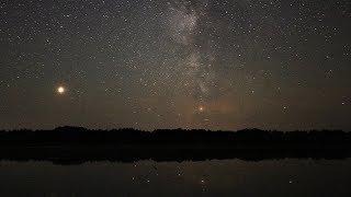 Звездное небо над озером