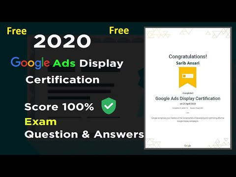 Google Ads Display Certification Exam Question and Answers 2020 ...