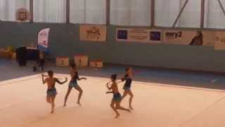 preview picture of video 'DC1 Cadettes Ermont, Championnat Régional IdF GR, Évry - 04.04.15'