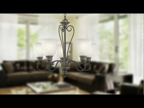 Video for Tanglewood Brushed Nickel Nine-Light Chandelier