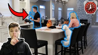 I Spent the Night in Lance Stewarts House & He had No Idea... (24 Hour Challenge)