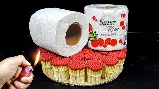 EXPERIMENT Match Vs toilet paper tissue