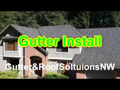 We are tearing off and replacing a gutter system with a new valor gutter guard system that will ensure her to never be on her roof cleaning gutters again! This job was completed in Auburn, WA!