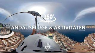 MSC Cruises: Landausflüge & Aktivitäten an Bord