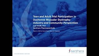 Teen & Young Adult Trial Participation in Duchenne – Industry & Community Perspectives (March 4, 2020)