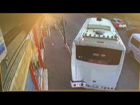 Midibüs iş yerine girdi, şoförü bakın ne yaptı