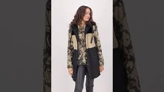 Vorschau: Lange Fake Fur Weste im Colourblock Design