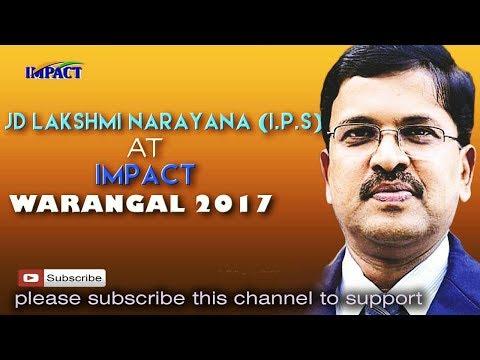 Strong Desire | JD Lakshmi Narayana | TELUGU IMPACT Warangal 2017