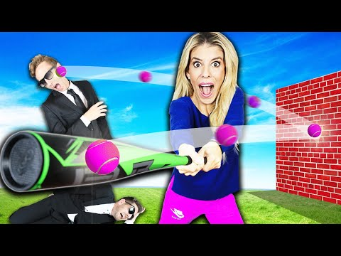 GIANT TRICK SHOT GAME in Real Life Challenge! (Matt and Rebecca Zamolo Vs  Game Master Inc.)