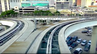 ⁴ᴷ Miami Metromover Brickell Line Footage - Financial District-Bayfront Park