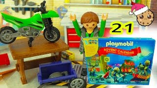 Dirt Bike - Playmobil Holiday Christmas Advent Calendar - Toy Surprise Blind Bags  Day 21