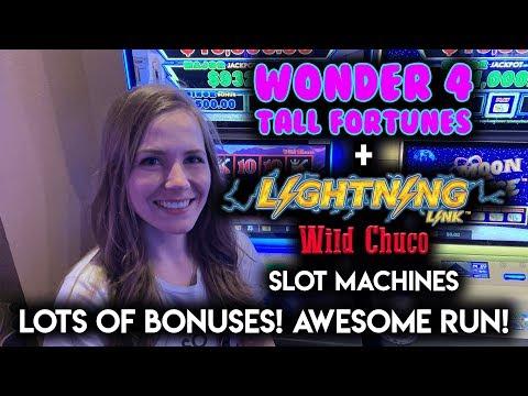 LOTS OF BONUSES! AWESOME RUN! Lightning Link Wild Chuco Slot Machine!!