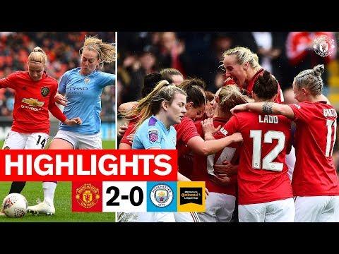 Highlights   United Women 2-0 Manchester City Women   FA Women's Continental League Cup