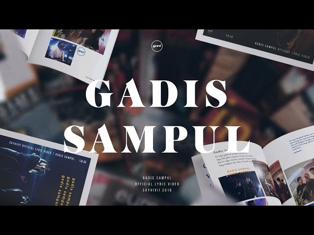 HIVI! - Gadis Sampul (Official Lyric Video)