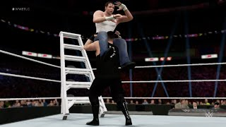 wwe-2k16-kevin-owens-vs-dean-ambrose-ladder-match-gameplay