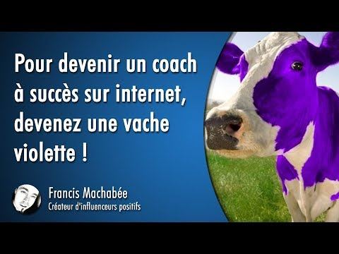 Pour devenir un coach à succès sur Internet,  devenez une vache violette !