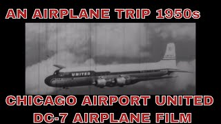 Airplane Trip - 1950s, DC-7 31020 HD
