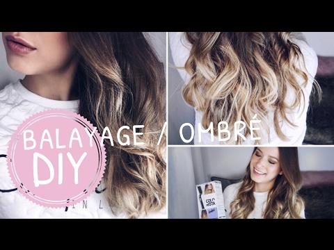 DIY BALAYAGE + OMBRE Hair Tutorial    SELBER FÄRBEN zuhause   elenasmakeup