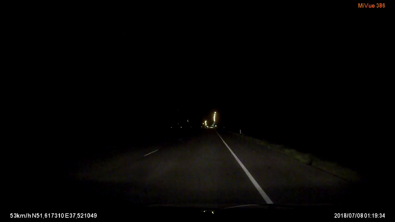 Рискованный ночной обгон на трассе Курск - Воронеж