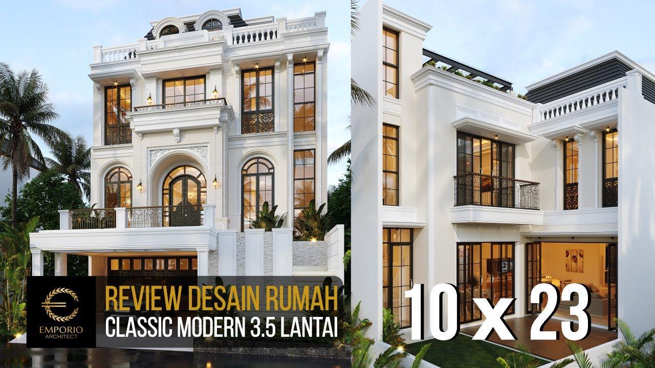 Video 3D Desain Rumah Classic Modern 3.5 Lantai Bapak Ramses di Tangerang Selatan, Banten