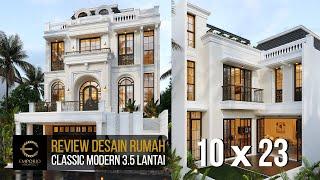 Video Desain Rumah Classic Modern 3.5 Lantai Bapak Ramses di  Tangerang Selatan, Banten