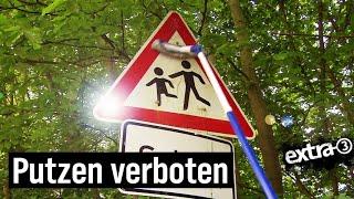 Realer Irrsinn: Verkehrsschilder säubern verboten | extra 3 | NDR
