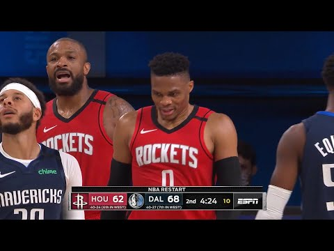 ROCKETS vs MAVERICKS – 1st Half Highlights | NBA Restart