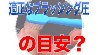 正しいブラッシング圧は爪でチェックする