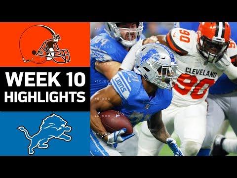 Browns vs. Lions | NFL Week 10 Game Highlights