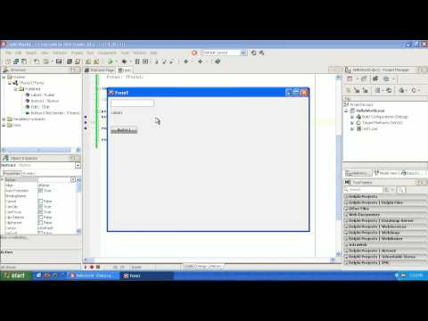 Learning to program Delphi tutorial 1 –  Hello World – Pascal – Rad Studio XE2
