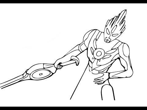 Cara Menggambar Ultraman Zero Dengan Mudah Belajar Menggambar