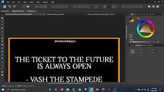 Vash The Stamepede Quote Poster Design [Affinity Designer]